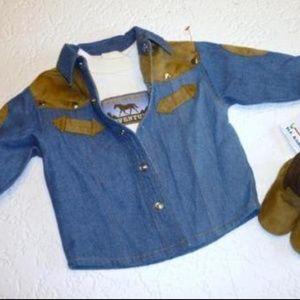 b.t. Kids Halloween Cowboy 2PCS Costume 3-6M